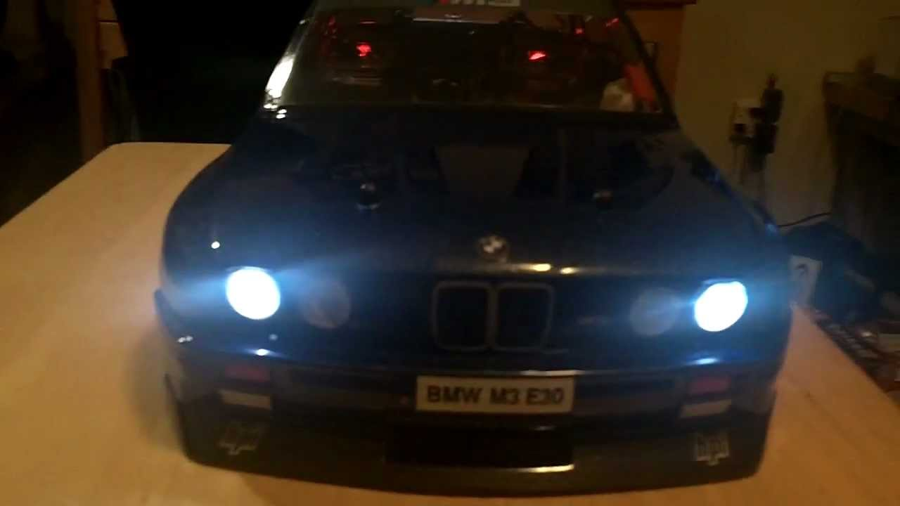 BMW M3 E30 RC Body with lights - YouTube