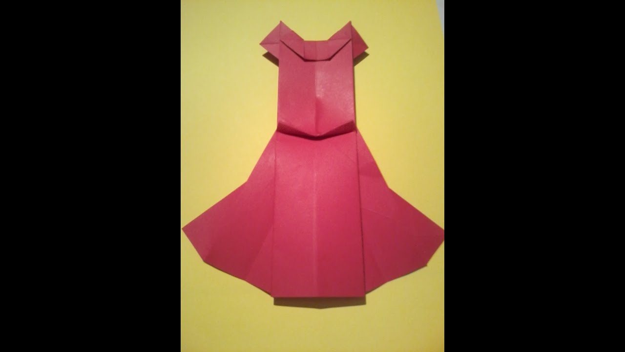 Tuto origami la robe youtube - Pliage serviette chemise ...