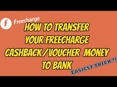 How to transfer your FREECHARGE CASHBACK Money to BANK!