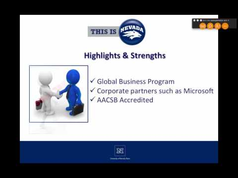 UNR College of Business Webinar