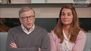 Bill Gates smiles after saying second wave of coronavirus will get people's attention