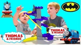 Thomas and Friends Mini Batcave Thomas the Train Batman Batcave unboxing and play