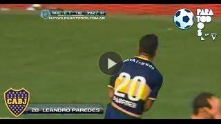 Gol de Paredes. Boca 1 - Tigre 1. Fecha 15. Torneo Inicial 2013. Fútbol Para Todos
