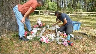 spring hill cemetery little girl grave clean up