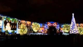 Новогоднее Аэрофлот-Шоу на Дворцовой Площади, Санкт-Петербург 23.12.2015 год