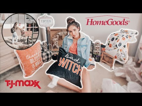 SHOP WITH ME AT HOMEGOODS, TJMAXX & TARGET 🍁 FALL / HALLOWEEN EDITION!