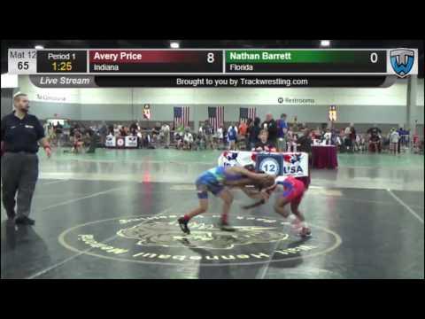 3070 Intermediate 65 Avery Price Indiana vs Nathan Barrett Florida 8571680104