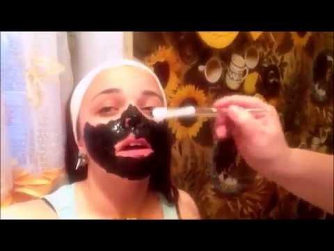 распариваем лицо и наносим маску из китая от чёрных точек!!!!