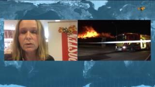 Kraftig brand i industrilokal