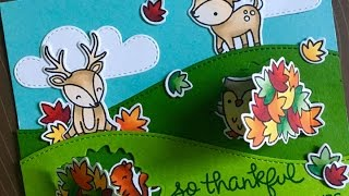 Lift the Flap Card | Lawn Fawn | Laura's 10K Subscriber Hop