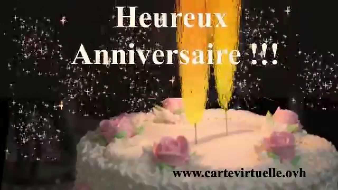 Heureux Anniversaire Etincelles Carte Virtuelle Video Animee Gratuite Youtube