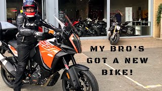 2019 KTM SUPER ADVENTURE S, Trying out my Bro's new bike