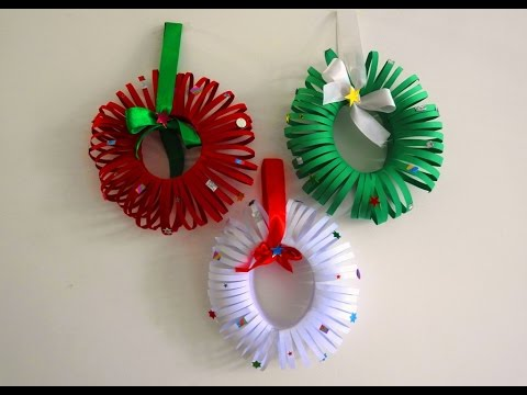 easy christmas wreath tutorial diy christmas room decor xmas decor ideas with paper youtube