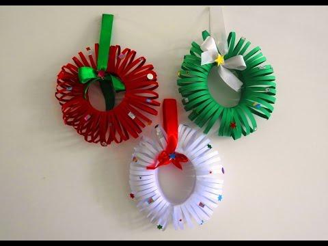 Easy Christmas Wreath Tutorial ~ DIY Christmas Room Decor ~ X'mas Decor Ideas with Paper...
