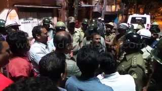 Riots in central parts of the Belgaum city