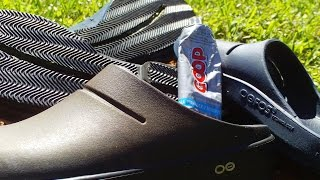 How To: Rubber Sole for Shoes ( OOFOS® Sandals/Clogs  ) using Goop Glue!