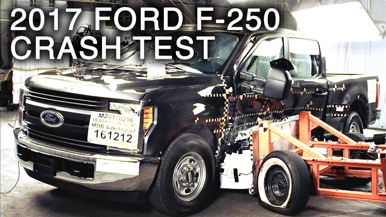 2017 Ford F-250 Crew Cab Side Crash Test - YouTube