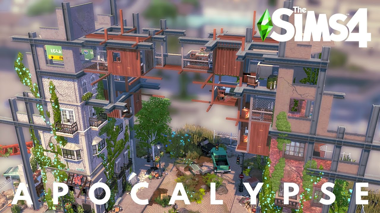 POST APOCALYPTIC HOUSE   OFF THE GRID   The Sims 4 Speed Build   NOCC