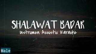 Religi - Shalawat Badar | Instrumen Acoustic karaoke & Lyric | Key For Male | Dhany Alfiansyah
