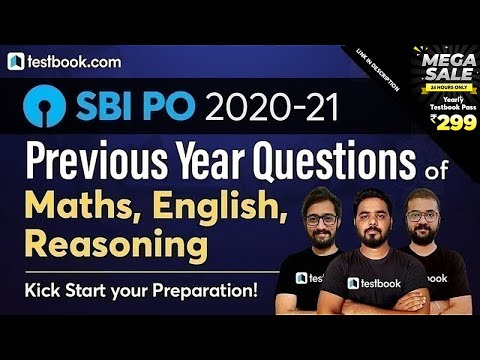 SBI PO Previous Year Question Paper | Reasoning, Maths & English from SBI PO Memory based Paper 2019