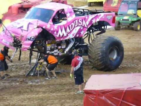 Monster Jam Path Of Destruction Philadelphia Madusa aftermath