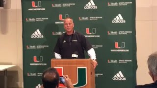Miami Hurricanes coach Mark Richt discusses N'Kosi Perry's 'immature' video