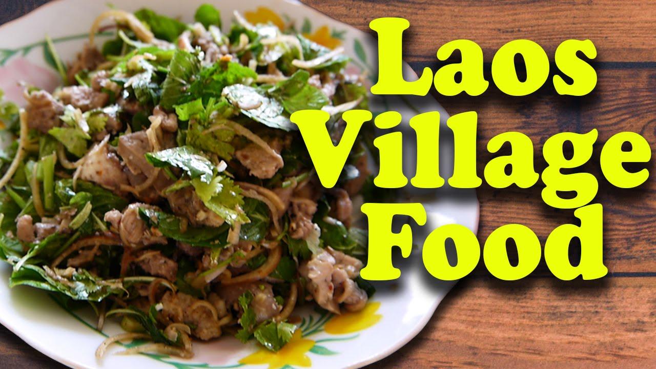 Lao Food At Lard Khuay Village Vientiane Laos YouTube - Cuisine laotienne