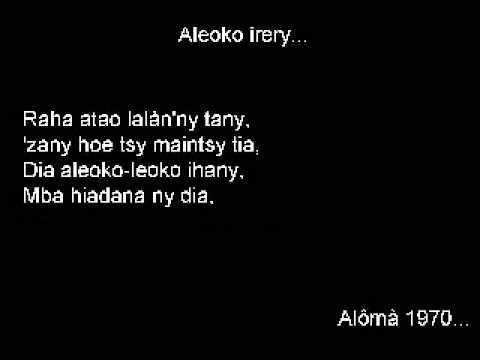 Aleoko Irery Ihany