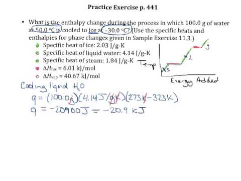 Practice Exercise P 441 Heating Curve Calculations Youtube