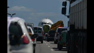 Traslado  del último avión  de Pluna a Punta del Este