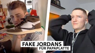 Justin reagiert auf Papaplatte's Jordan 1 (Fake) | Reaktion