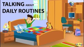 Learn how to talk about daily routines in this english lesson. get the phrases you need do this. it will help practice speaking. https://www.k...