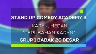 Video Stand Up Comedy Academy 3 : Karyn, Medan - Perubahan Karyn download MP3, 3GP, MP4, WEBM, AVI, FLV Oktober 2018