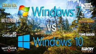 Windows 7 vs Windows 10 Test in 8 Games