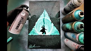 Harry Potter & The Deathly Hallows - SPRAY PAINT ART - by Skech