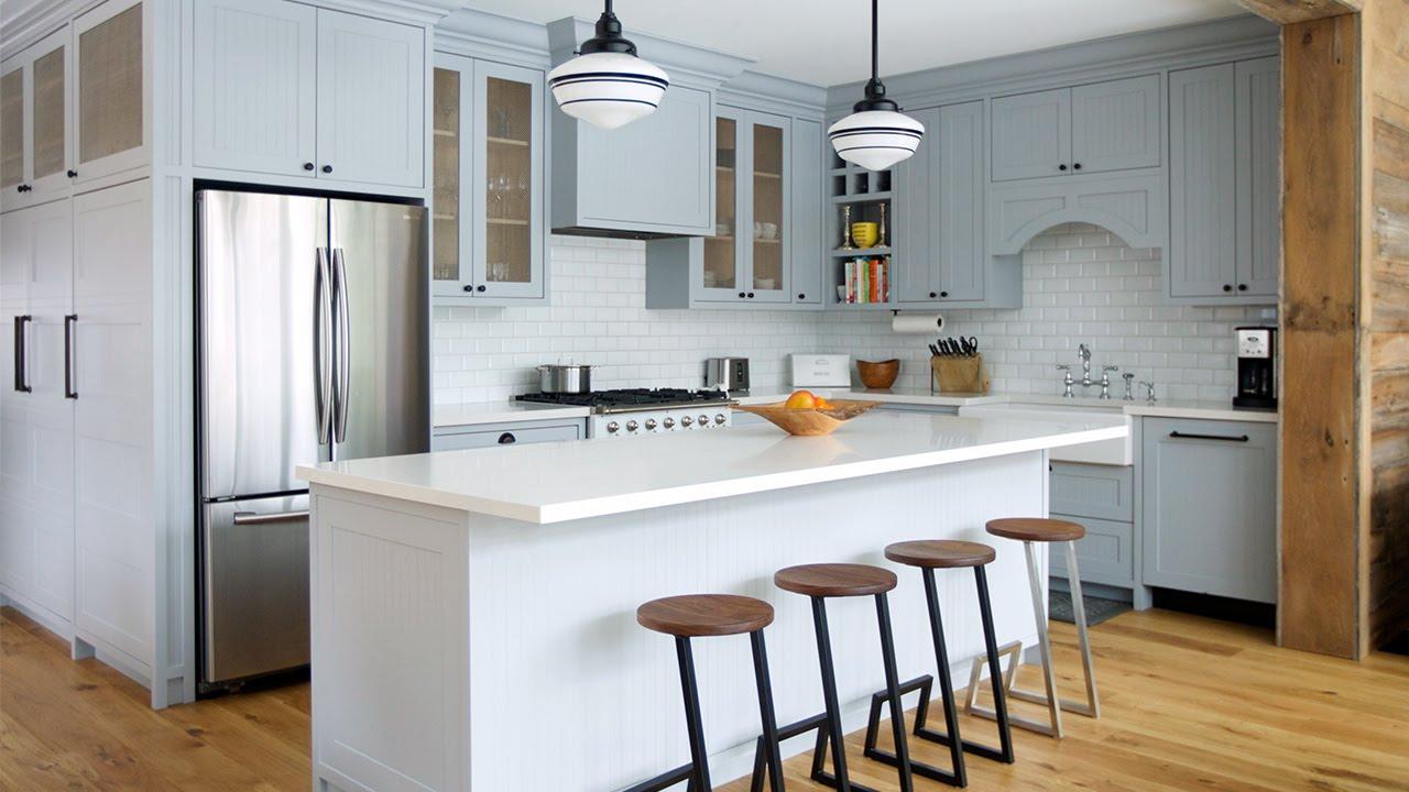 Interior Design U2013 Tour A Farmhouse Inspired Family Room U0026 Kitchen   YouTube Part 69