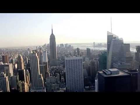 New York City (NYC) Skyline view from sky Top Of The Rock (Rockefeller Center) in Manhattan, NY (HD)