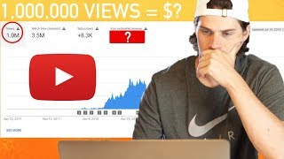 How Much YouTube Ad Revenue from 1 MILLION VIEWS on My Channel?