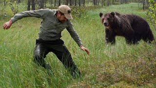 Мужчина Думал Что Медведь Нападёт на Него Но Случилось Невероятное Случай в Тайге