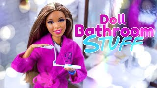 DIY - How to Make: Doll Bathroom Stuff | Electric Toothbrush...