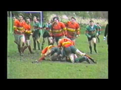 Silsden rugby, at home to West Bowling 8/4/1988.