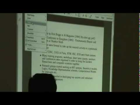 Part 1 Seminar on Computers and Samskrit by Srinivas Varkhedi