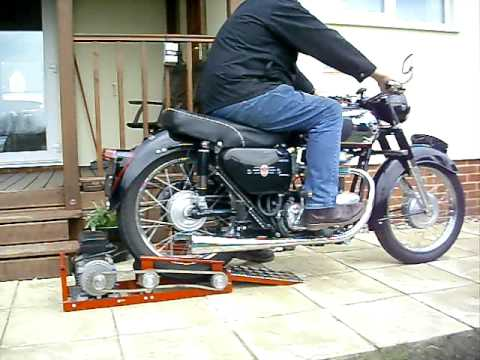 Motorcycle starter roller youtube for How to make an electric bike with a starter motor