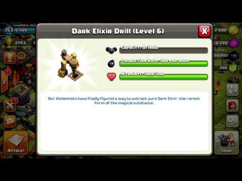 clash of clans Upgrade Dark Elixir Drill Level 6 (max level)