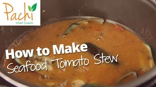 Cook SEAFOOD SOUP u0026 LOSE WEIGHT with Tomatoes - Colombian Cazuela de Mariscos in 15 mins by Pachi