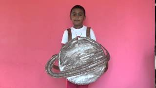 Vivaan wears Saturn Costume for Solar System Project at his school