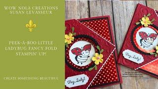 Peek-a-boo Little Ladybug Fancy Fold Stampin' Up!