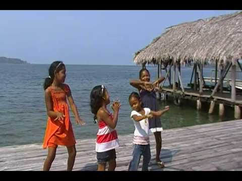 Little Bocas girls dancing to the sounds of Africa