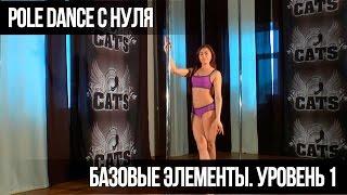 Pole Dance для начинающих. Базовые элементы. Уровень 1. Basic elements. Level 1