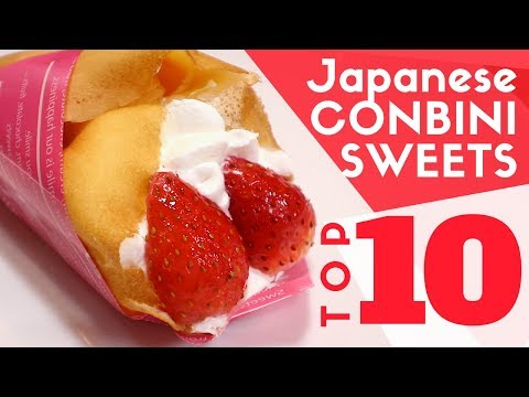 TOP 10 Must-Try SWEETS in a JAPANESE Convenience Store